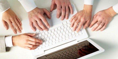 Набор текста на клавиатуре