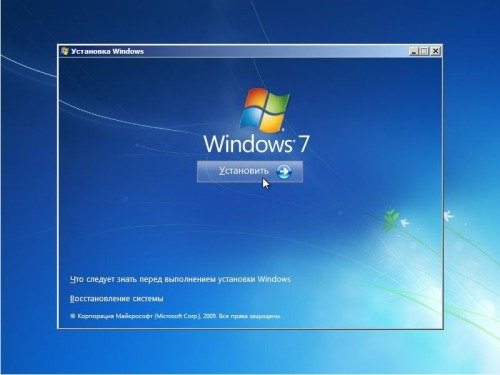 Установить Windows 7