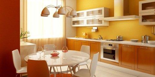 Разноцветные цвета в интерьере кухни