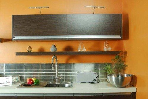 Тёплые цвета в интерьере кухни