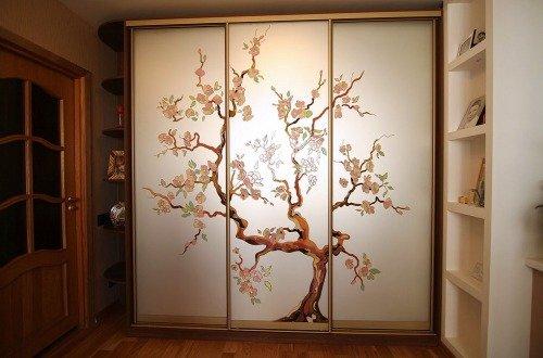 Встроенный шкаф-купе на японскую тематику