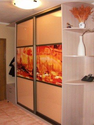 Шкаф-купе в прихожей комнате