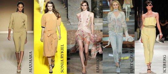 Коллекция модных платьев пастельных тонов для весны-лета 2012