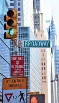 Светофор в Нью-Йорке