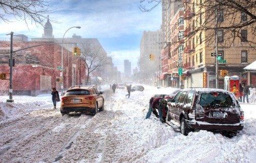 Снег в Америке