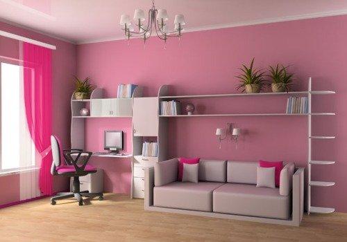 Красивое оформление детской комнаты