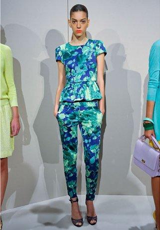 Цветочные принты в одежде.