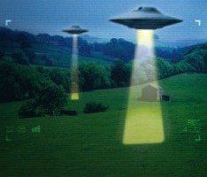 НЛО приближается к земле