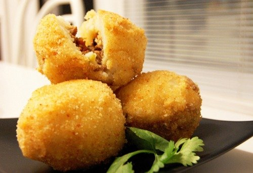 Зразы с грибами (или картофельные шарики с грибами)