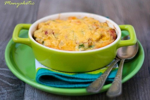 Картофельно-куриная запеканка с сырной корочкой