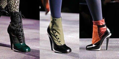 Модные туфли и сапоги осени 2012