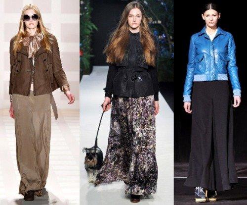 Советы с чем носить длинную юбку