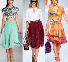 C чем носить длинную юбку