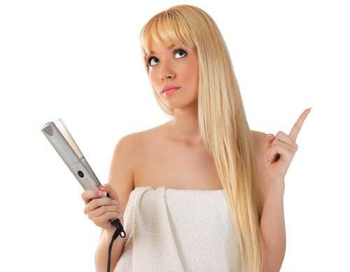 Как выпрямить волосы без утюжка  правильно