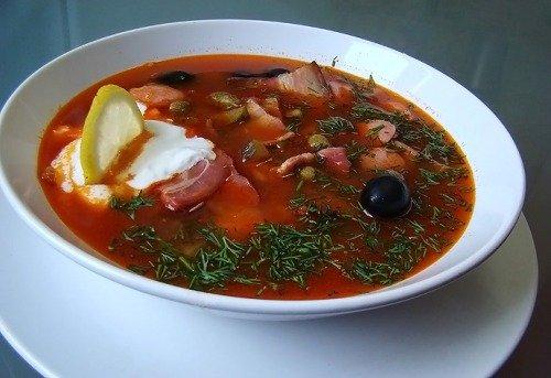 Как приготовить суп солянку