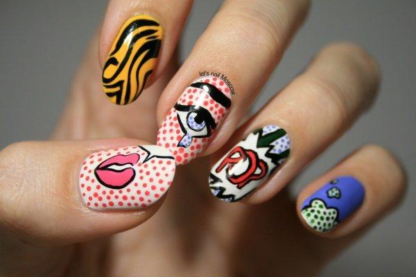Арт-маникюр на ногтях