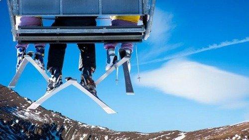 Лыжи. Вид снизу