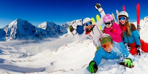 Веселые катания на лыжах