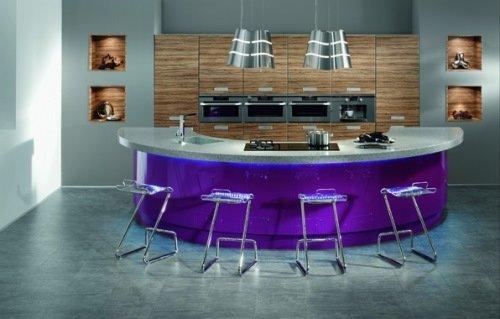 Необычный дизайн современной кухни.