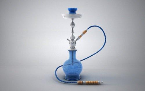 Синий кальян