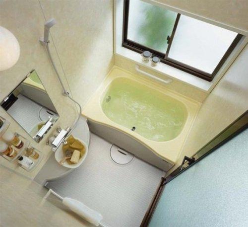 Небольшая ванная с хорошим дизайном