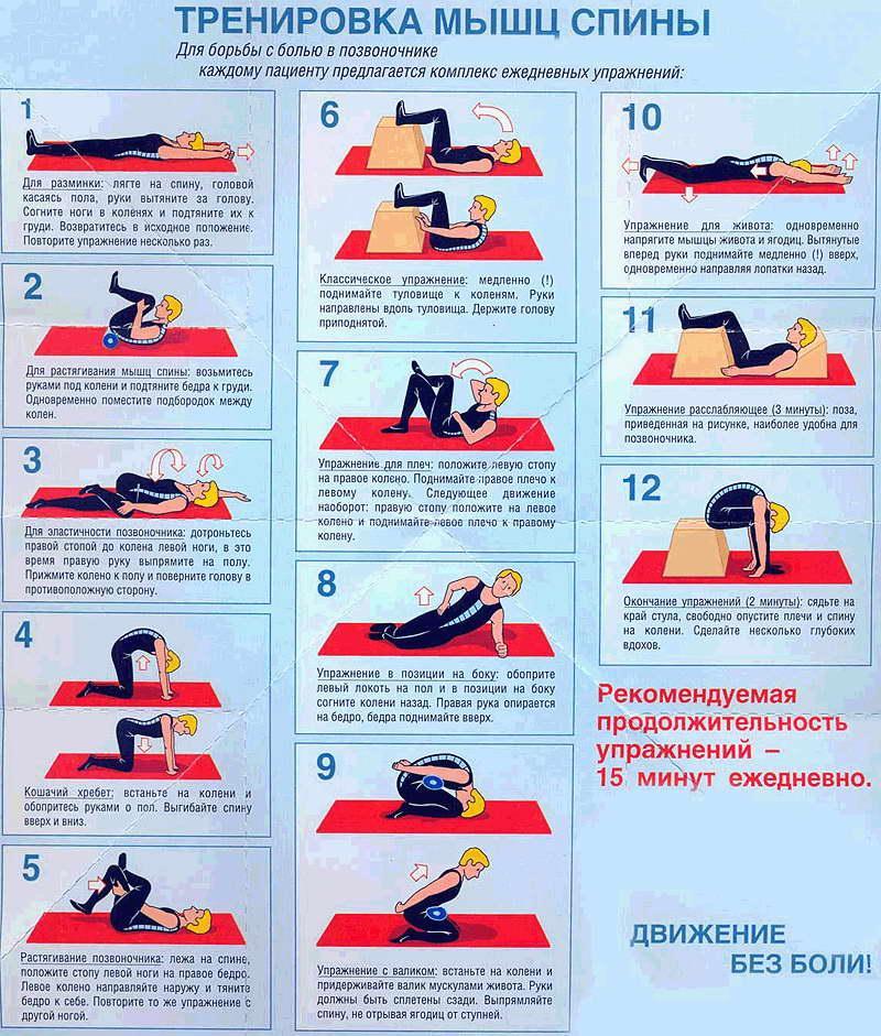 Упражнения для лечения остеохондроза