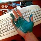 Зелёнка на руке