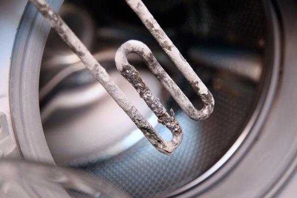 Накипь на тене стиральной машины