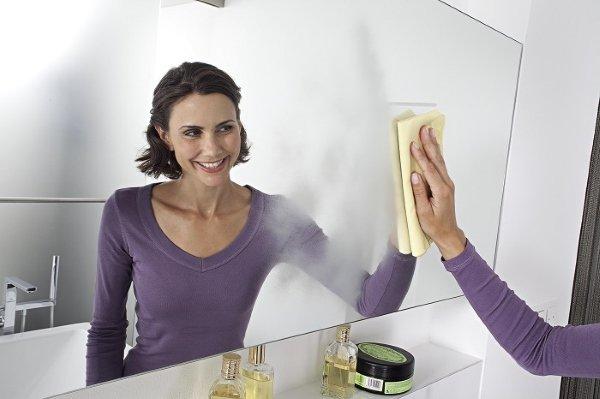 Вымыть зеркало без разводов