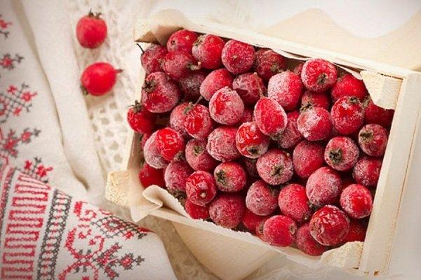 Свежемороженые плоды боярышника